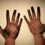 Уход за кожей рук при применении моющих средств или во время грязной работы